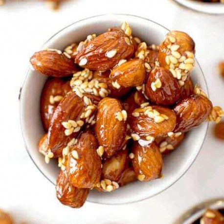 Honey Roasted Almonds with Sesame seeds